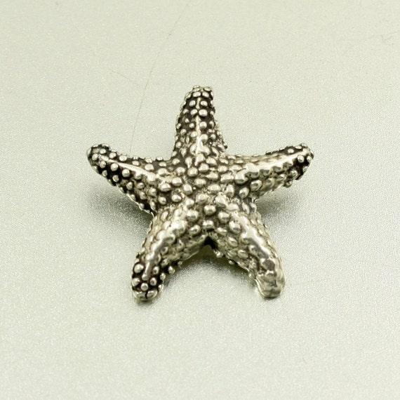 vintage sterling silver starfish pendant