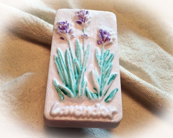 Lush Lavender - Hand molded and painted  glycerin crafted soap