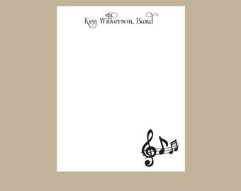 Band teacher notepad, music teacher notepad, Music notes, teacher gift