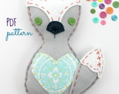 Felt Fox PDF Pattern Softie Toy Stuffed Animal Woodland