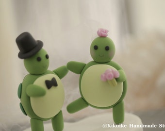 turtles Wedding Cake Topper---k629