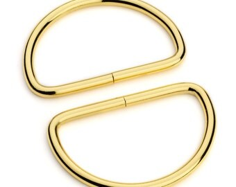 """100pcs - 2"""" Metal D Rings Dee Rings Non Welded Gold - Free Shipping (D-RING DRG-142)"""