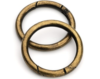 "50pcs - 1 1/2"" Gate-Ring - Antique Brass - Free Shipping (GATE RING GRG-128)"