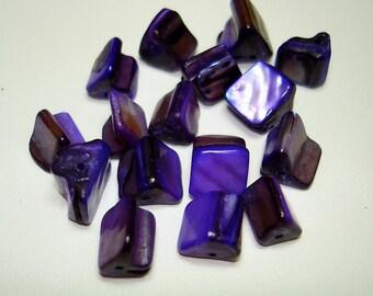Purple Shell Chip Beads (Qty 16) - B2322