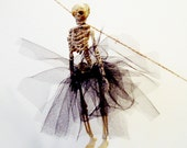 PDF How To Instructions: DIY Dressed Skeleton Garland, Skeletons with Tutus, Goth Wedding, Black Bone, No Sew, Miss Otis Regrets
