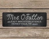 Chalkboard Labels - Chalkboard Return Address Labels - Self Adhesive - Chalkboard Address Stickers - Custom Labels for Teacher