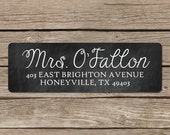 Chalkboard Return Address Labels - Self Adhesive