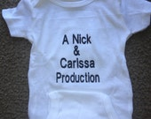 Personalized Parent Production Baby Infant Newborn Onesie creeper