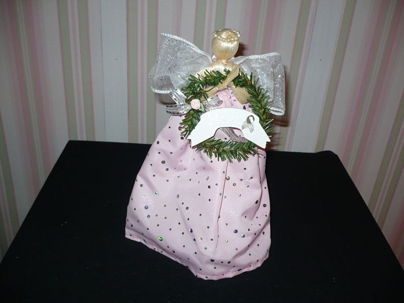 Breast Cancer Awareness Angel Tree Topper