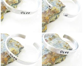 Kid Cuff Bracelet, Personalized, Hand Stamped, Custom Made…Aluminum…