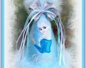 FROZEN Birthday Hat,  Elsa Birthday Hat or Anna  Birthday Hat, Frozen Birthday Hat, 1st Birthday Hat, by Gingham Bunny