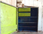 Vintage Reclaimed Industrial Shop Cabinet