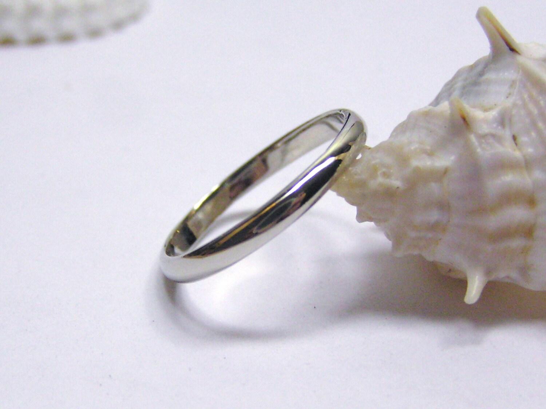 White Gold Wedding Band 2mm Wedding Band White Gold Wedding
