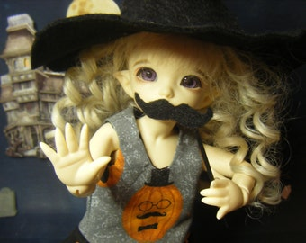 For Pukifee Little Stash Mr Mustash Pumpkin Dress Grungy Witch Hat Leggings Mask