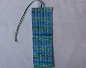 Scrappy Rustic Quilted Bookmark #40