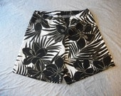 XL Spandex Compression Bicycle Shorts Tropical Roller Derby or Workout Cute Sexy