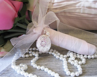 Brides Bouquet Locket Wedding Keepsake