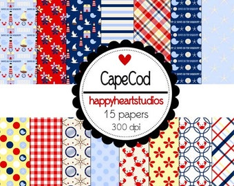 Digital Scrapbook CapeCod-INSTANT DOWNLOAD