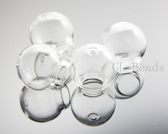 4pcs Clear Glass Cover - Two Holes 20x12mm (379C)