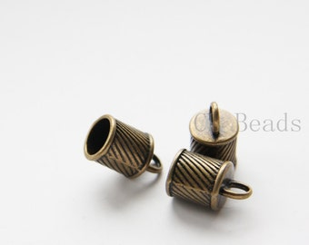 8pcs Antique Brass Tone Base Metal Cones-16x10mm (9792Y-R-240B)