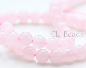 One Strand (15 Inches) Rose Quartz Stone - Round 6mm( BS301)