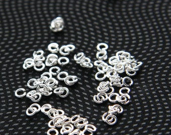 2.9 Grams Bright Silver Plated  Brass Jump Rings-3.4mm (21 Gauge) (1951C-I-377)
