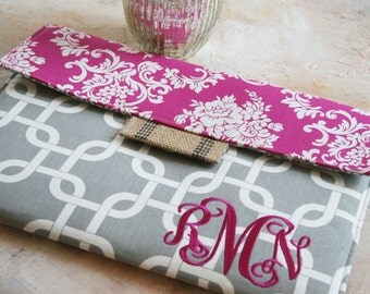 "Macbook Envelope Case, Monogrammed Macbook Cover, Personalized Macbook Sleeve, Laptop Case, 13 or 11"" in Chains"
