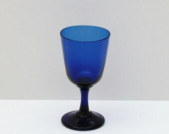 Antique Bristol Blue Wine Glass, circa 1880s