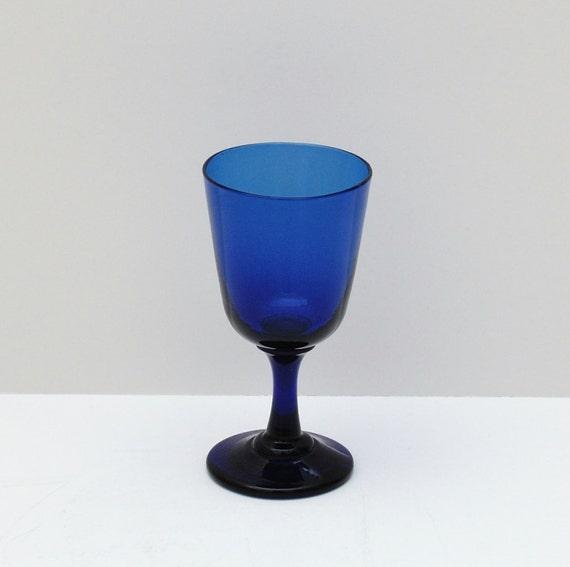 Antique Bristol Blue Wine Glass Circa 1880s