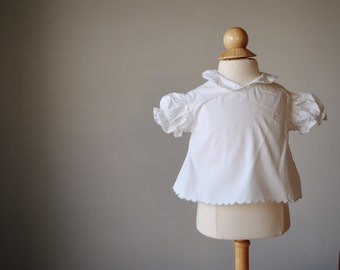1960s Simple Cotton Blouse, size 3 months