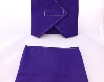 Purple Reusable Lunch Duo -  Sandwich Wrap and Snack Bag