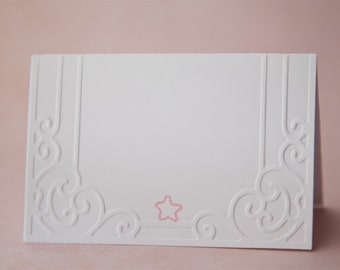 Embossed Place Cards - Great for Baby Showers, Baptisms, Christenings, or any Event