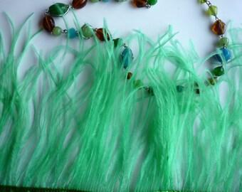 VOGUE OSTRICH FRINGE  Clover , Mint Green / 344/ Rollback