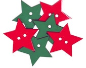 Clearance LARGE CHRISTMAS STARS 6 buttons
