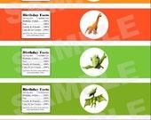 Dinosaur Train water bottle label - instant digital download