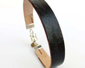 Birch bark cuff bracelet in brown, The Skinny