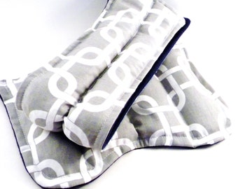Cold Packs for Hot Flashes, Use as Hot or Cold Packs, Menopause, Change of Life, Cold Compresses or Heating Pads, Rice Flax Bag, Grey Gray