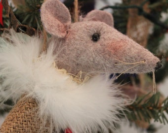 Mouse in a mitten,Not Even A Mouse Ornament, Mouse, Mouse Ornie