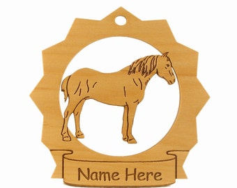Percheron Horse Wood Ornament 088220 Personalized With Your Horse's Name