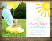 You Are My Sunshine Invitation - Printable File - DIY