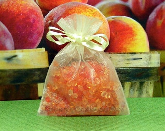 Georgia Peach Aroma Bead Sachets (Set of 2)  GREAT In THE CAR Air Fresheners