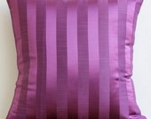 Decorative Throw Pillow Cover Couch Pillows Sofa Pillow Bed Pillow Toss Pillow 18 x 18 Purple Pillow Case Bedding Purple Stripe Home Decor