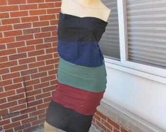 SALE - Multicolor Multiwear Jersey Tube Maxi Dress - M/L (3264)