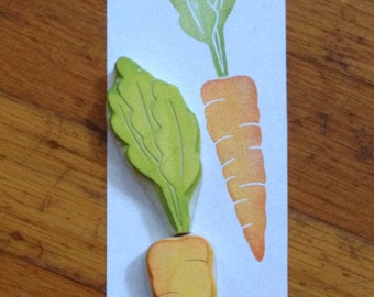 Hand Carved Carrot Stamp