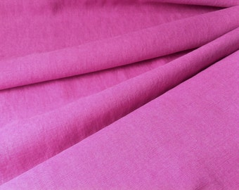 pink • pure solid Linen Fabric 0.54yd (0,5m) 001127