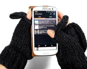 Fingerless Gloves that Convert to Mittens - Glittens