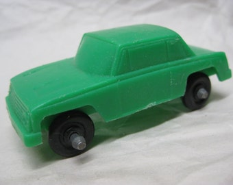Car Green Plastic Toy Vintage Cake Topper