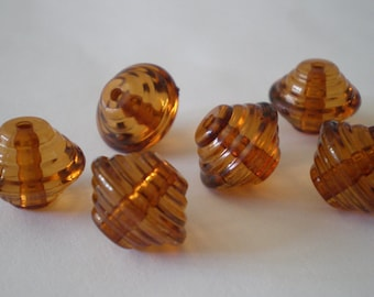 20pcs Brown Topaz layered bicone acrylic beads