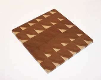 End Grain Cutting Board / Chopping Block Handcrafted from Ash Hardwood