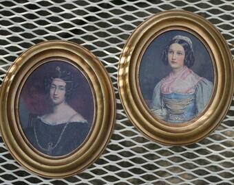 Vintage Victorian Prints Portraits